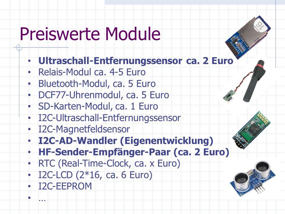 Preiswerte Module Ultraschall-Entfernungssensor ca. 2 Euro