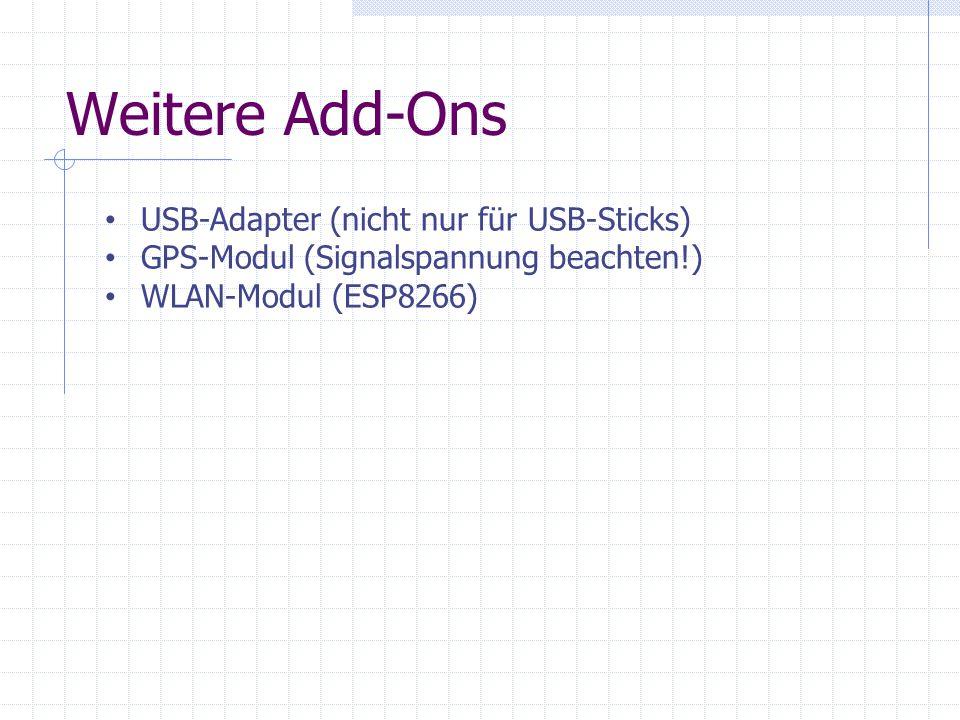 Weitere Add-Ons USB-Adapter (nicht nur für USB-Sticks)