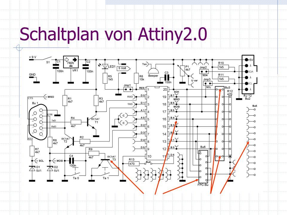 Schaltplan von Attiny2.0