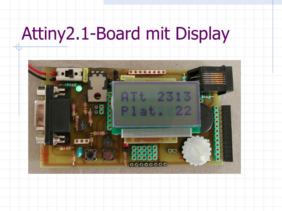 Attiny2.1-Board mit Display