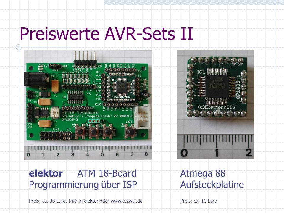 Preiswerte AVR-Sets II