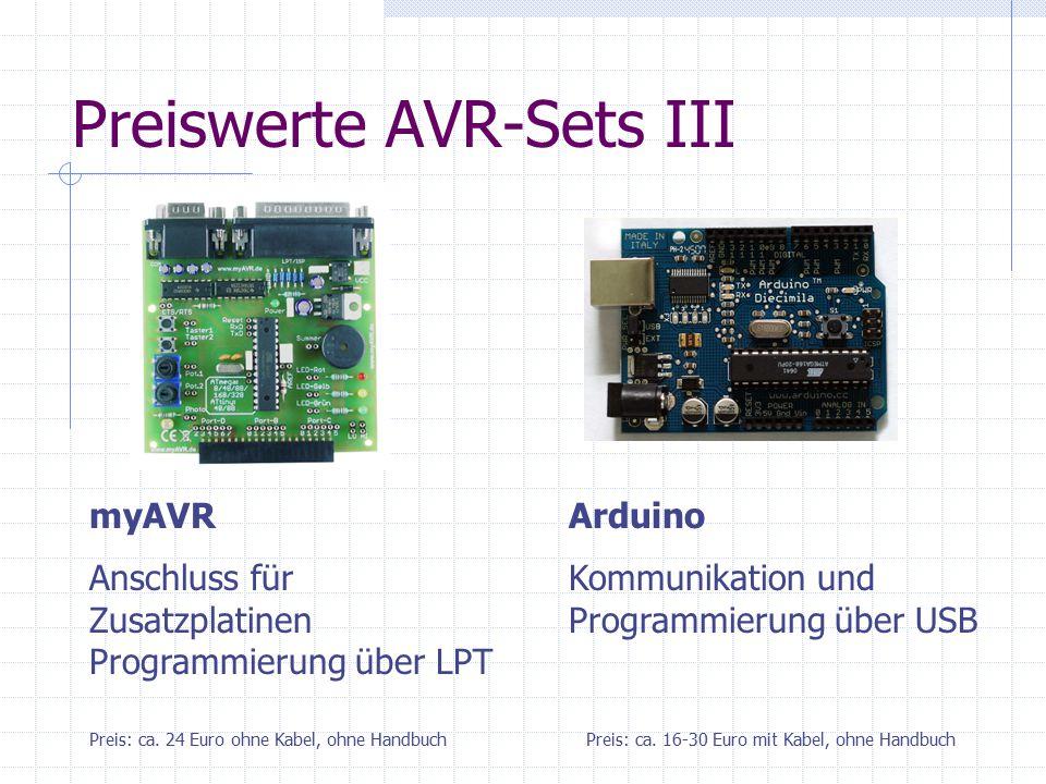 Preiswerte AVR-Sets III