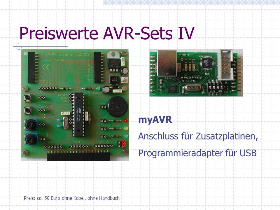 Preiswerte AVR-Sets IV