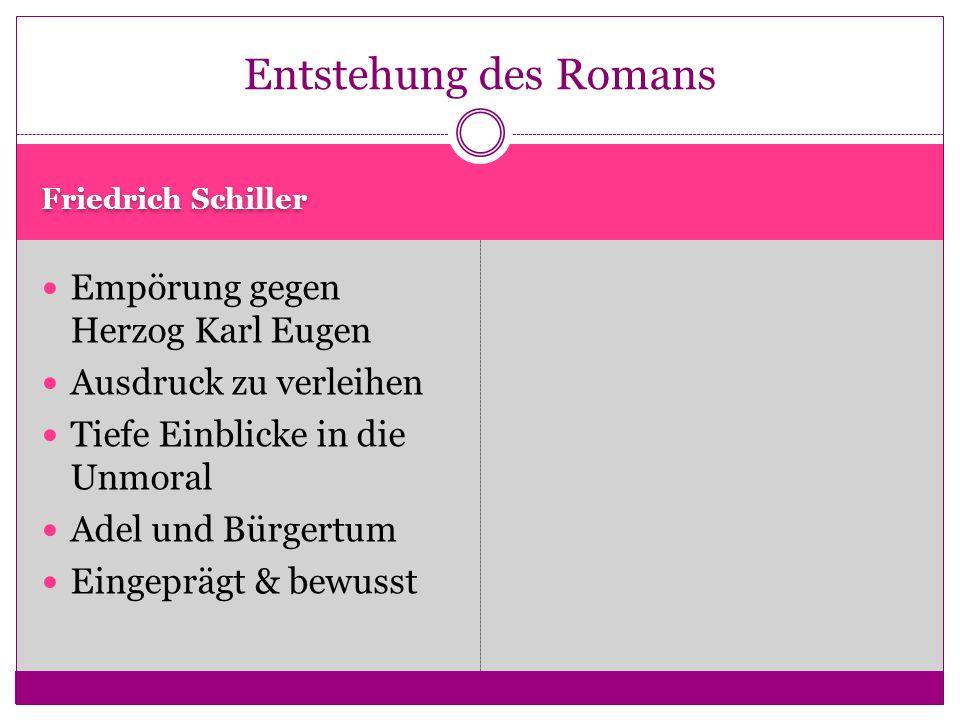 Entstehung des Romans Empörung gegen Herzog Karl Eugen