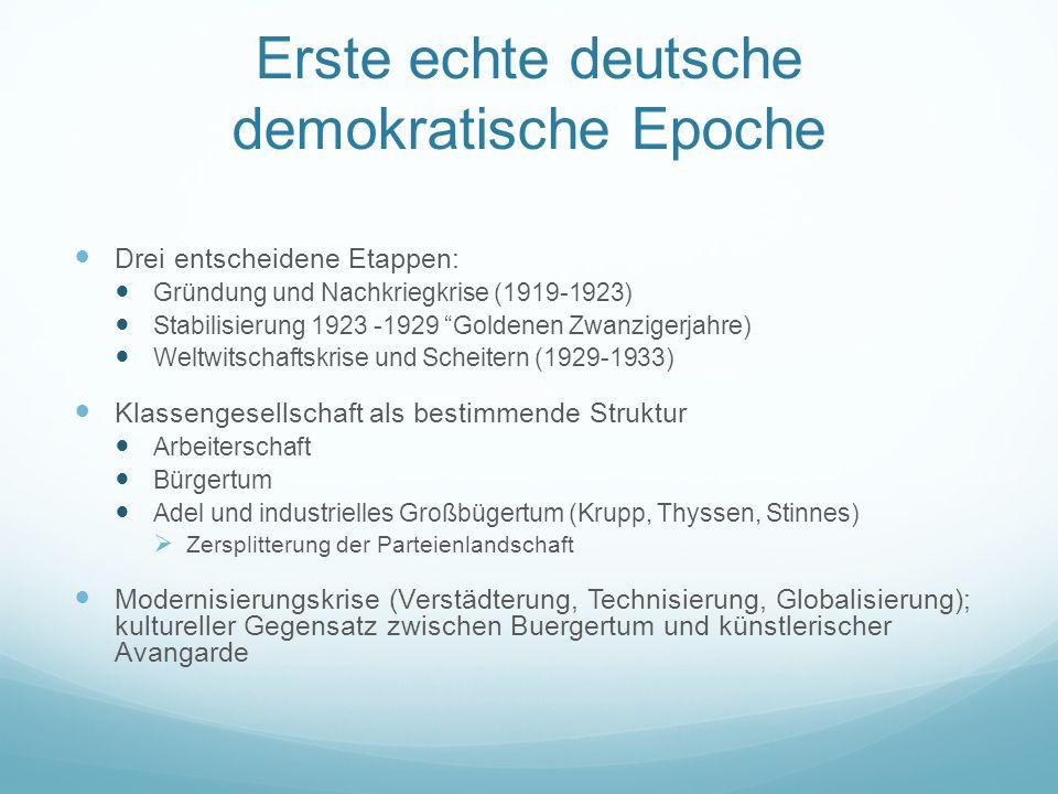 Erste echte deutsche demokratische Epoche