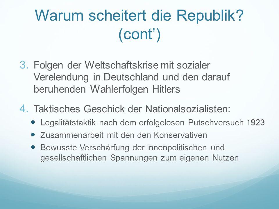 Warum scheitert die Republik (cont')