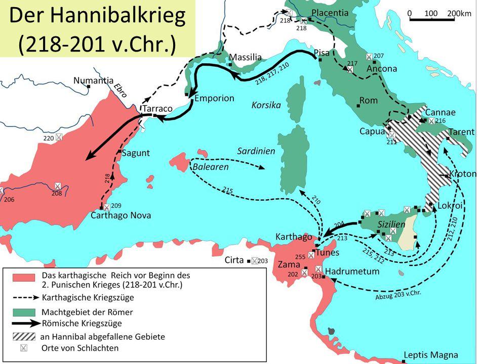 Der Hannibalkrieg (218-201 v.Chr.)