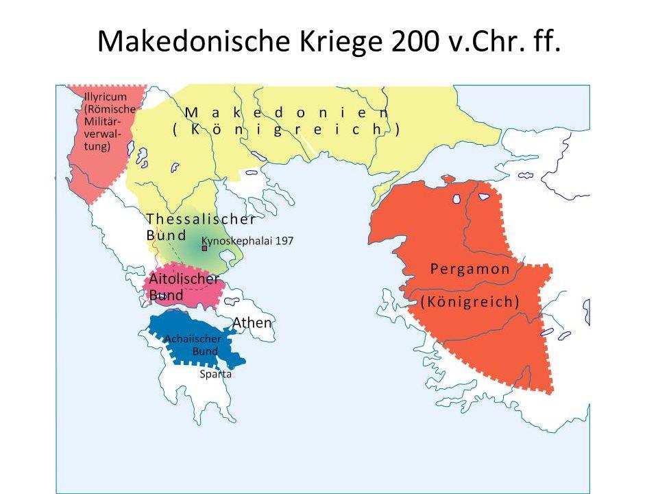 Makedonische Kriege 200 v.Chr. ff.