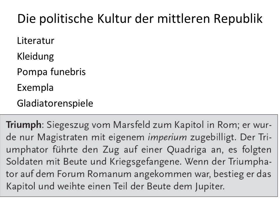 Die politische Kultur der mittleren Republik