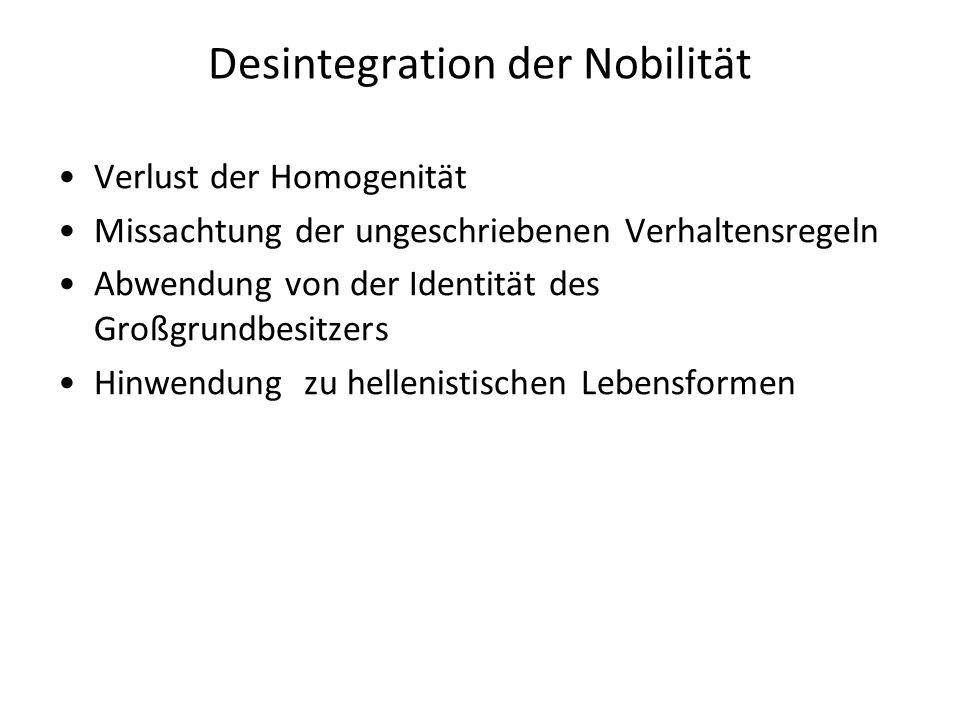Desintegration der Nobilität