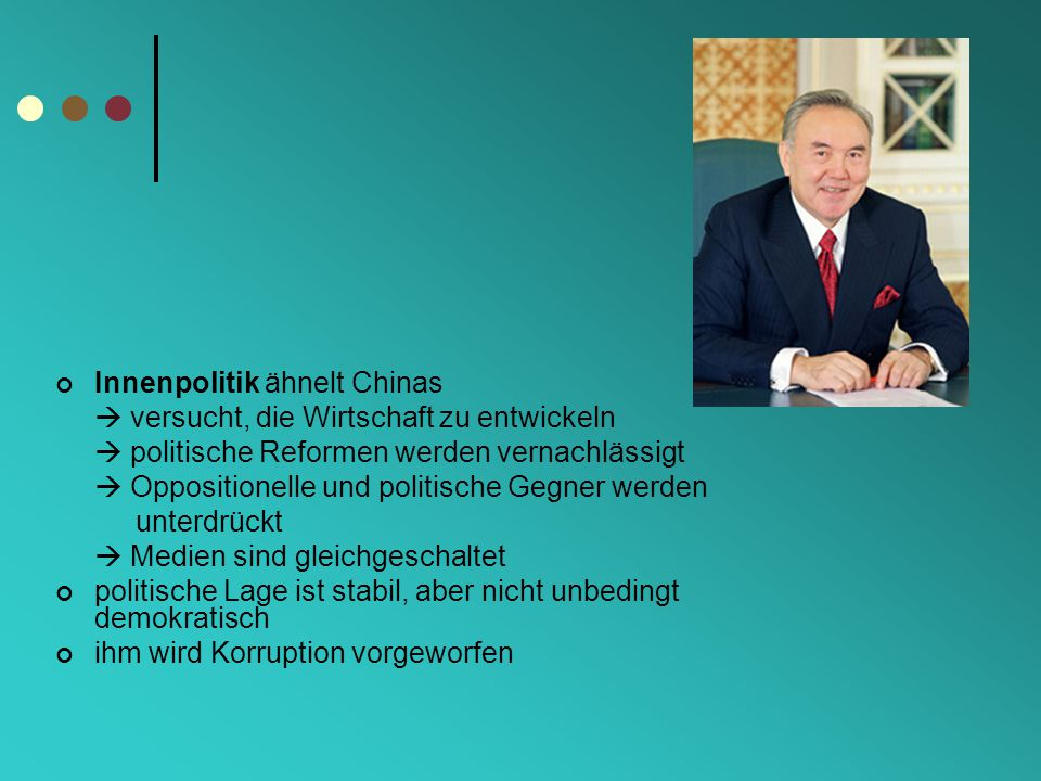 Innenpolitik ähnelt Chinas