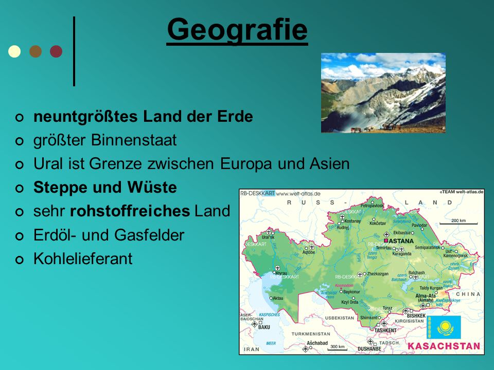 Geografie neuntgrößtes Land der Erde größter Binnenstaat