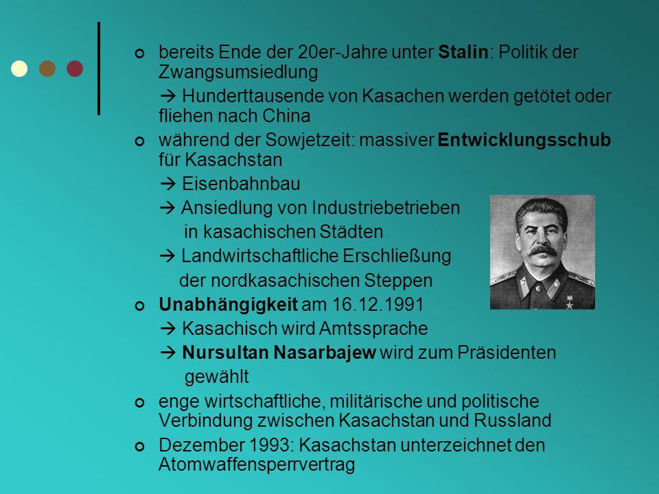 bereits Ende der 20er-Jahre unter Stalin: Politik der Zwangsumsiedlung