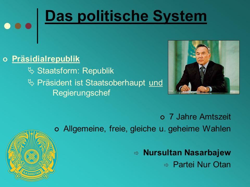 Das politische System Präsidialrepublik  Staatsform: Republik
