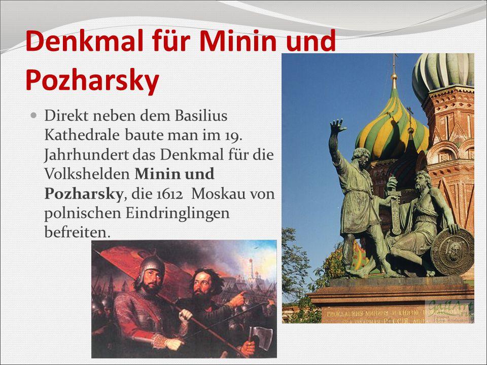 Denkmal für Minin und Pozharsky