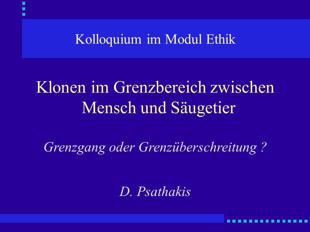 Kolloquium im Modul Ethik