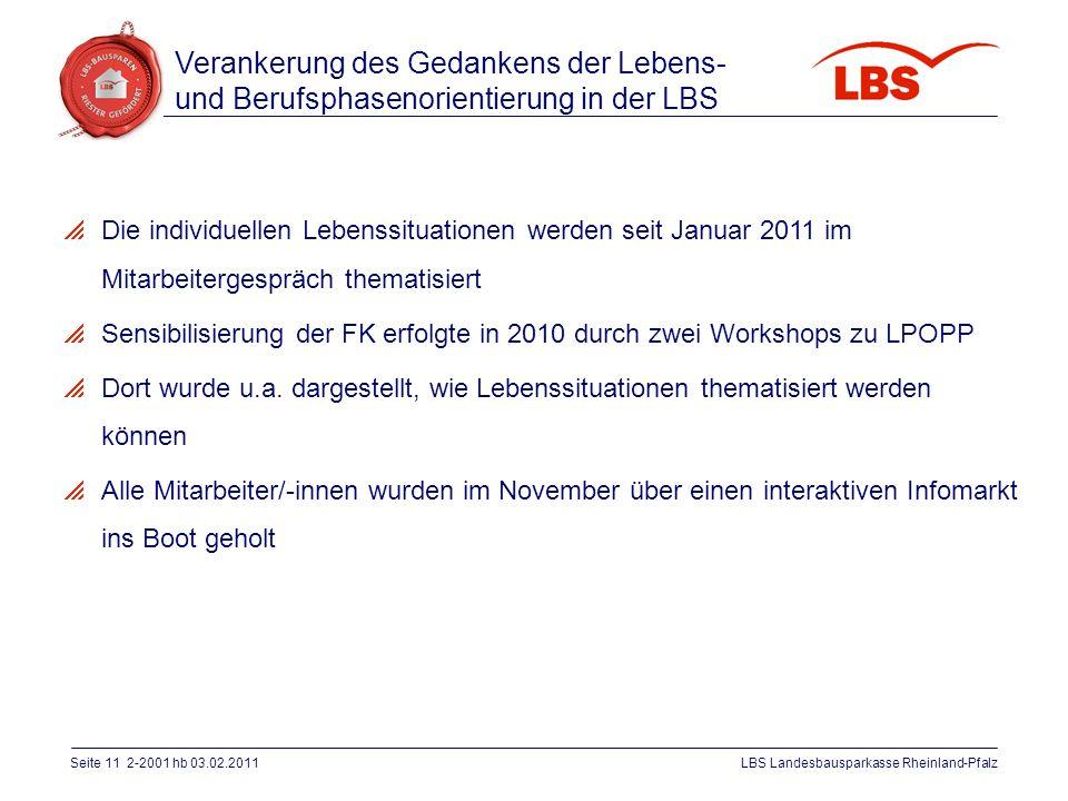 Verankerung des Gedankens der Lebens- und Berufsphasenorientierung in der LBS
