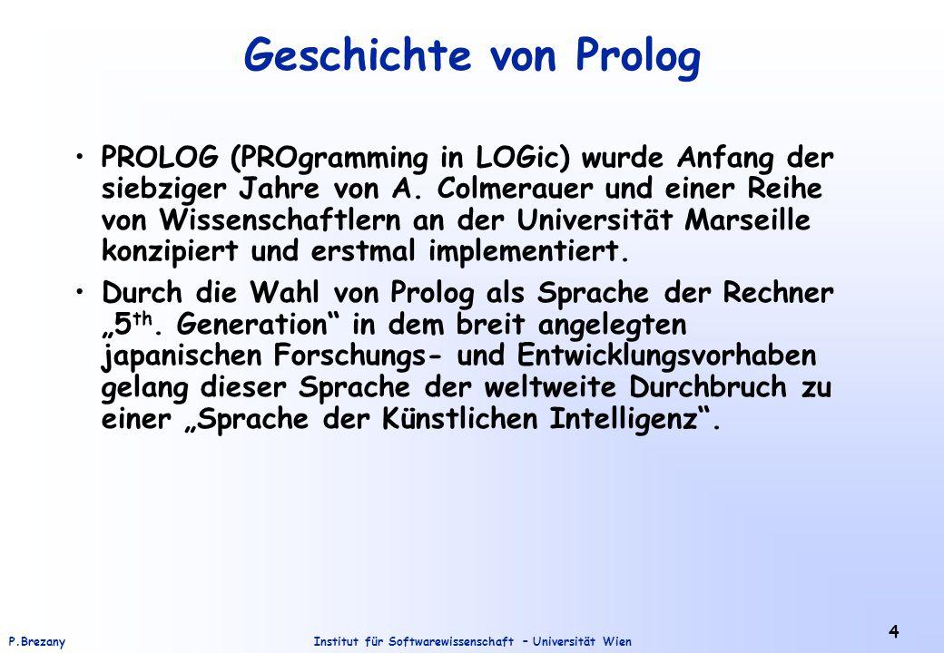 Geschichte von Prolog