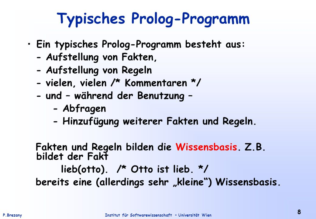 Typisches Prolog-Programm