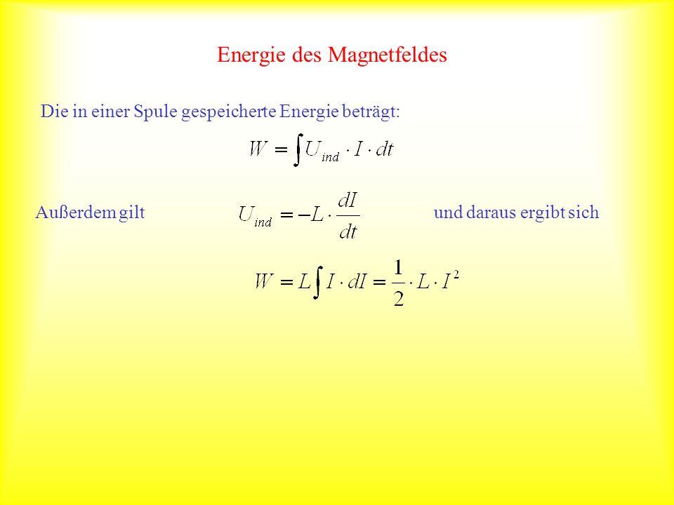 Energie des Magnetfeldes