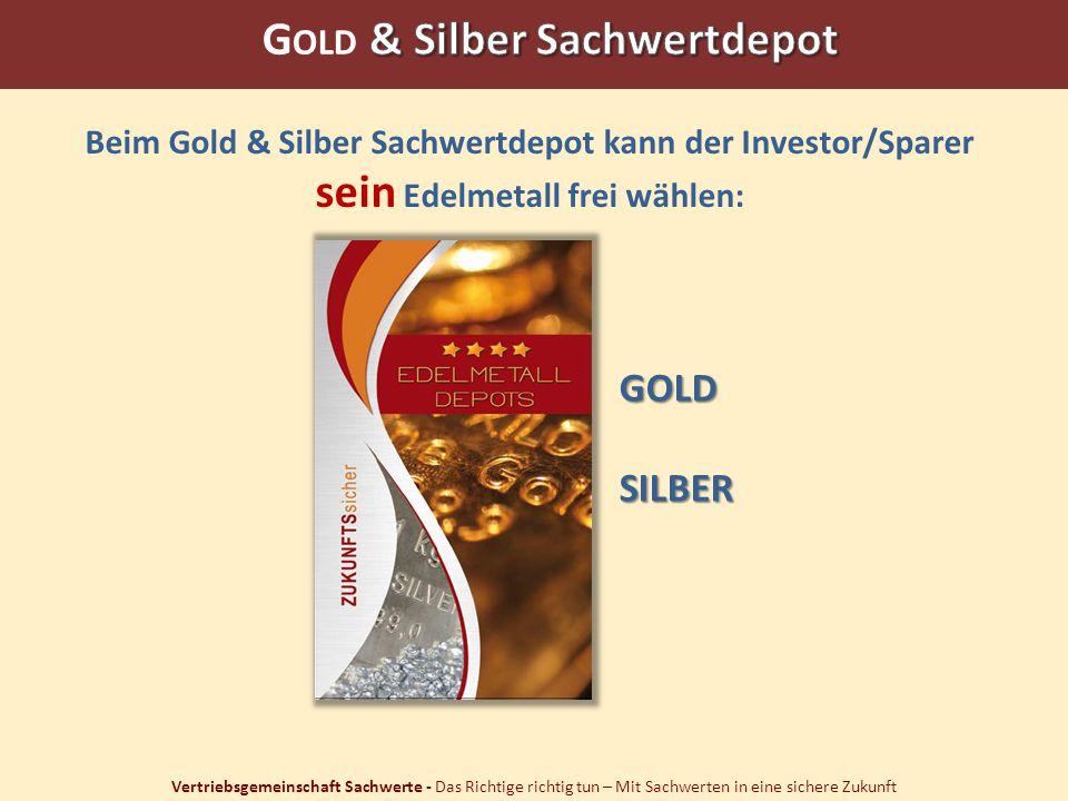 Gold & Silber Sachwertdepot sein Edelmetall frei wählen: