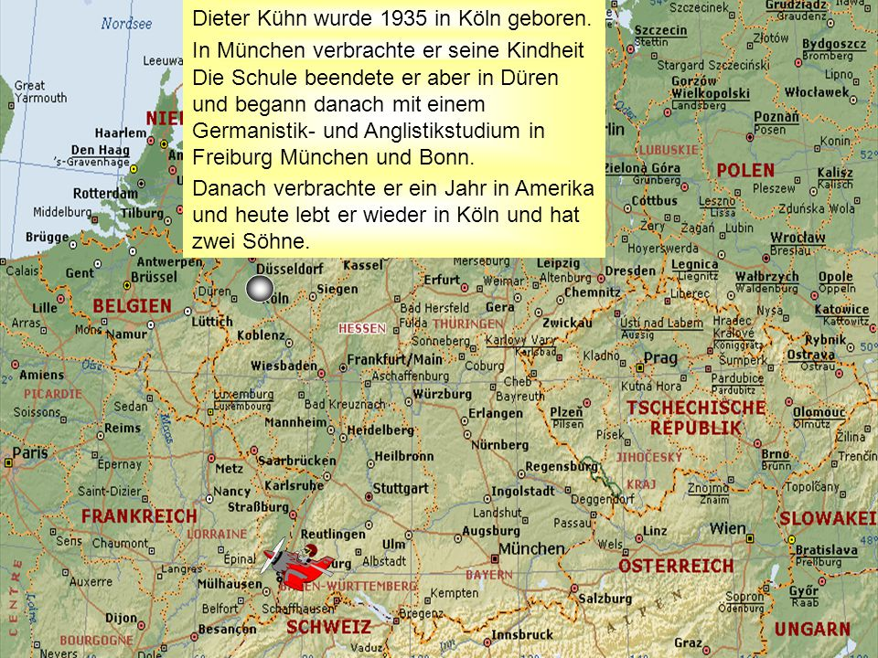 Dieter Kühn wurde 1935 in Köln geboren.