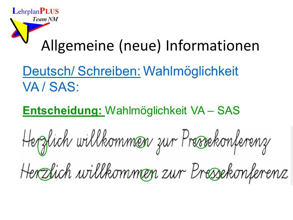 Allgemeine (neue) Informationen