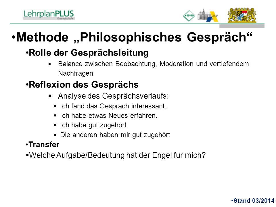 "Methode ""Philosophisches Gespräch"