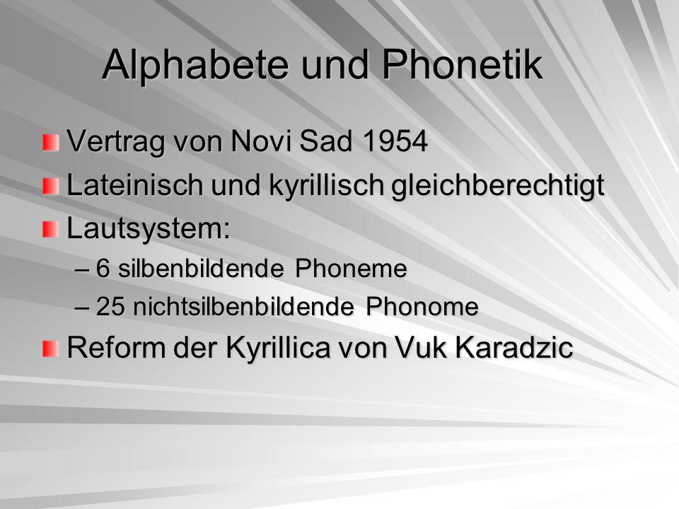 Alphabete und Phonetik