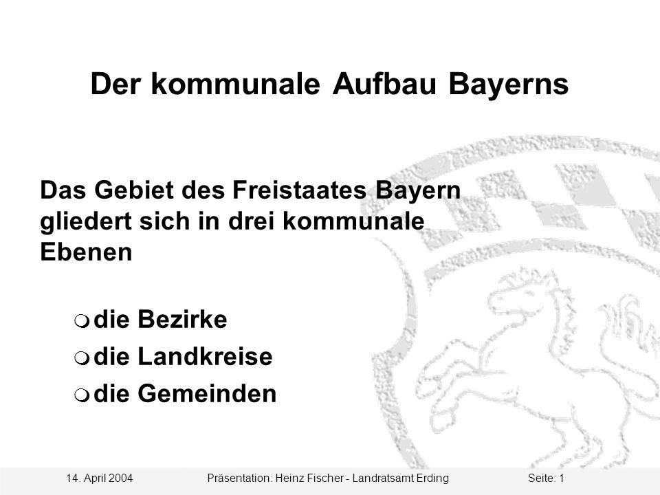 Der kommunale Aufbau Bayerns