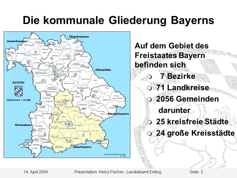Die kommunale Gliederung Bayerns