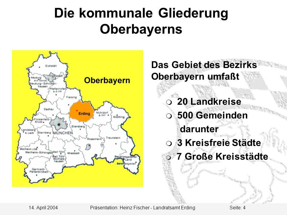 Die kommunale Gliederung Oberbayerns