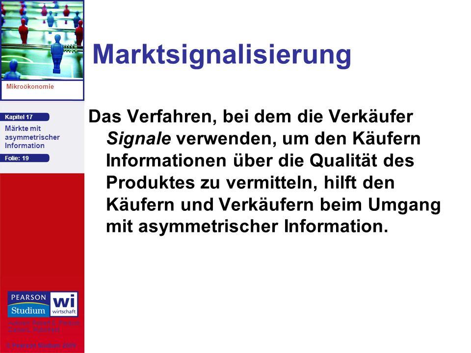 Marktsignalisierung