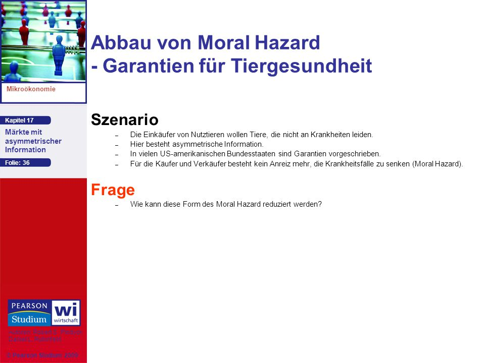 Abbau von Moral Hazard - Garantien für Tiergesundheit