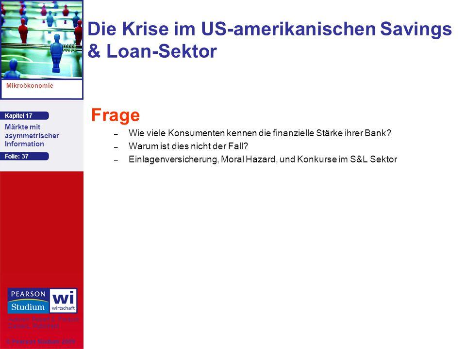 Die Krise im US-amerikanischen Savings & Loan-Sektor