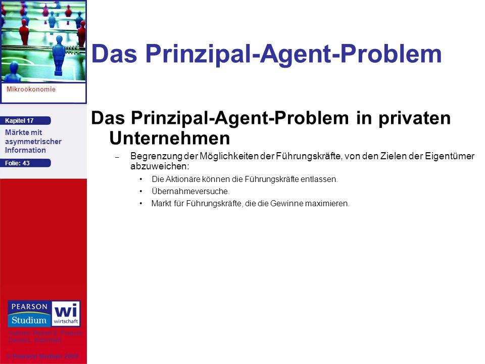 Das Prinzipal-Agent-Problem