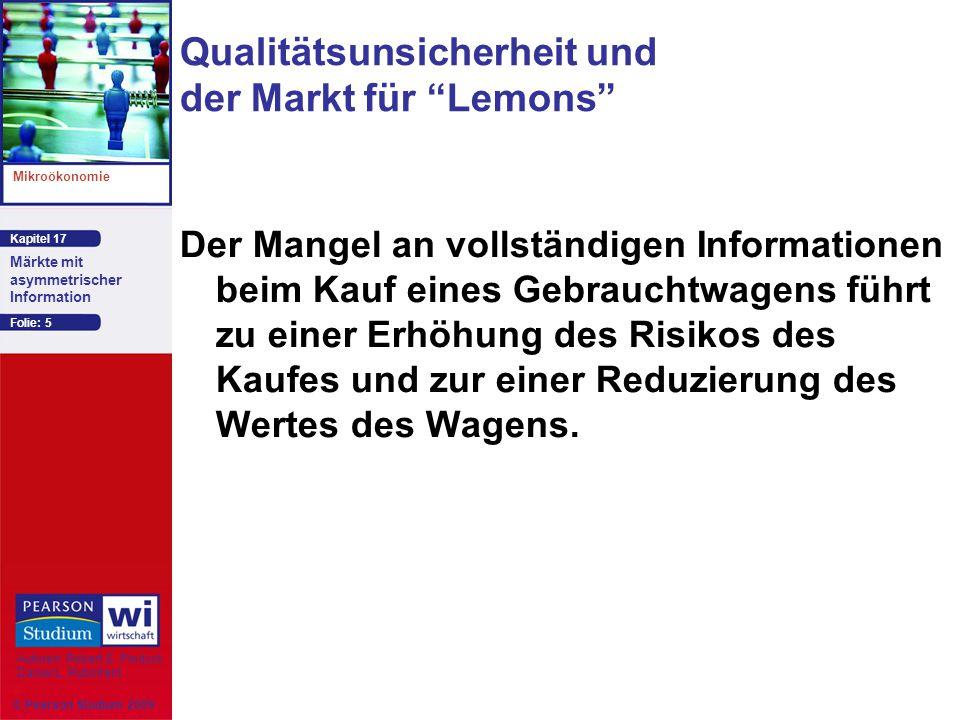 Qualitätsunsicherheit und der Markt für Lemons