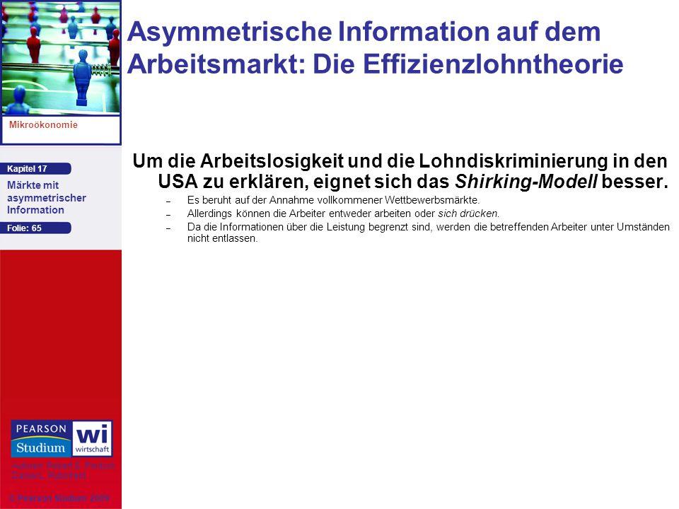 Asymmetrische Information auf dem Arbeitsmarkt: Die Effizienzlohntheorie