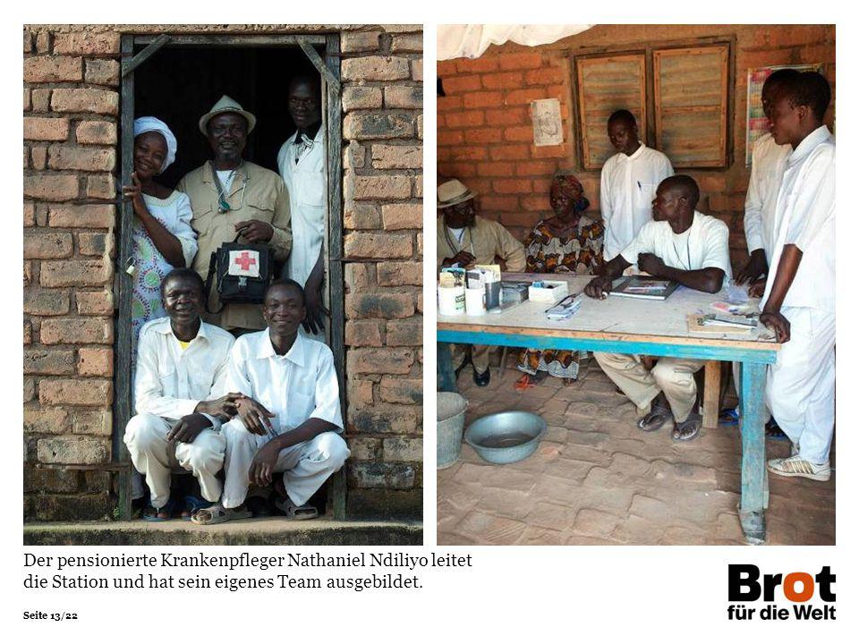 Der pensionierte Krankenpfleger Nathaniel Ndiliyo leitet die Station und hat sein eigenes Team ausgebildet.