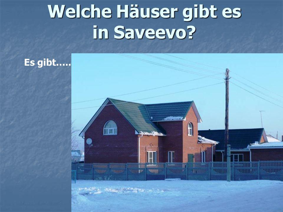Welche Häuser gibt es in Saveevo