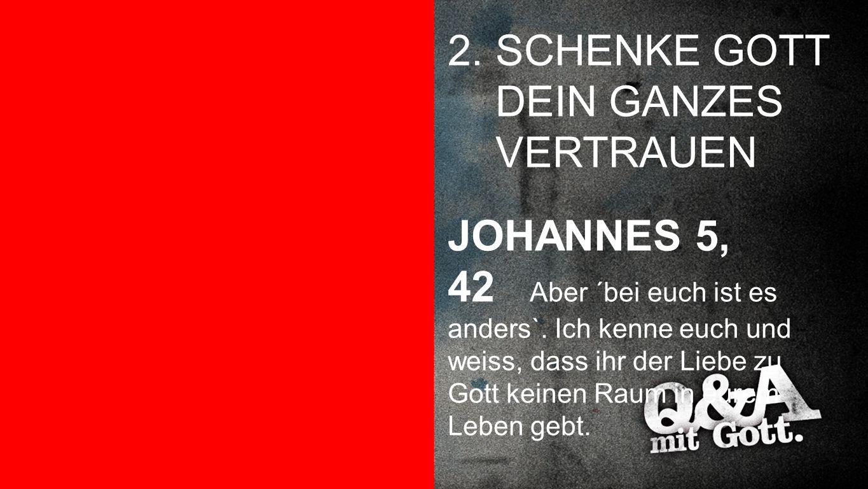 2. SCHENKE GOTT DEIN GANZES VERTRAUEN