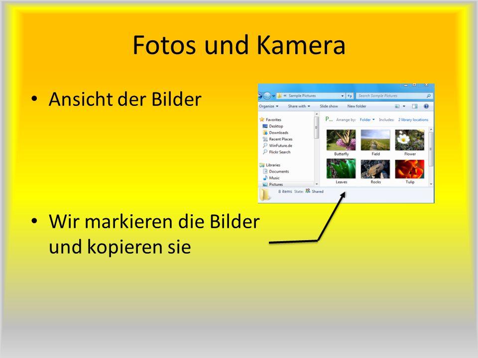 Fotos und Kamera Ansicht der Bilder