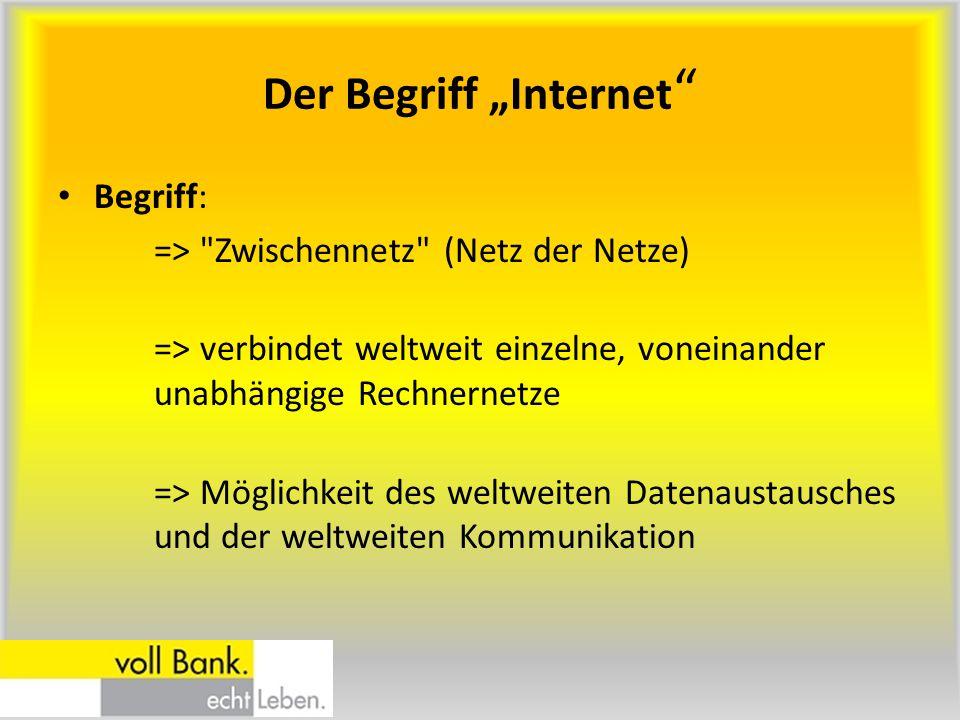 """Der Begriff """"Internet"""