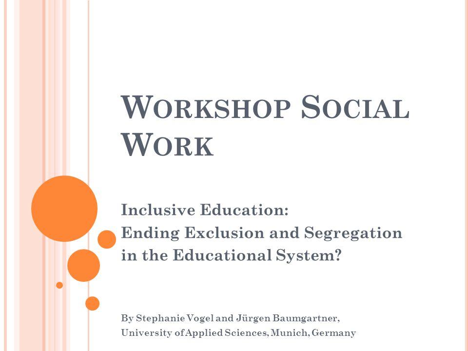 Workshop Social Work Inclusive Education: