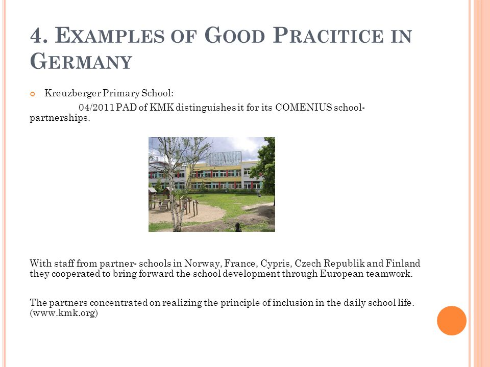 4. Examples of Good Pracitice in Germany