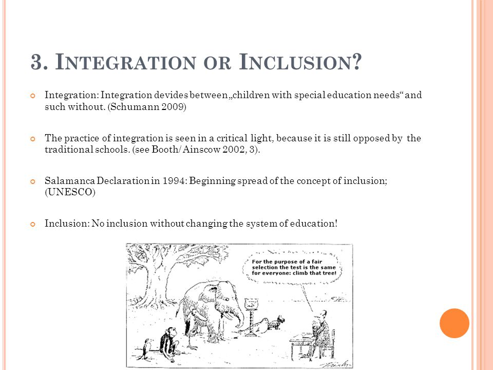 3. Integration or Inclusion
