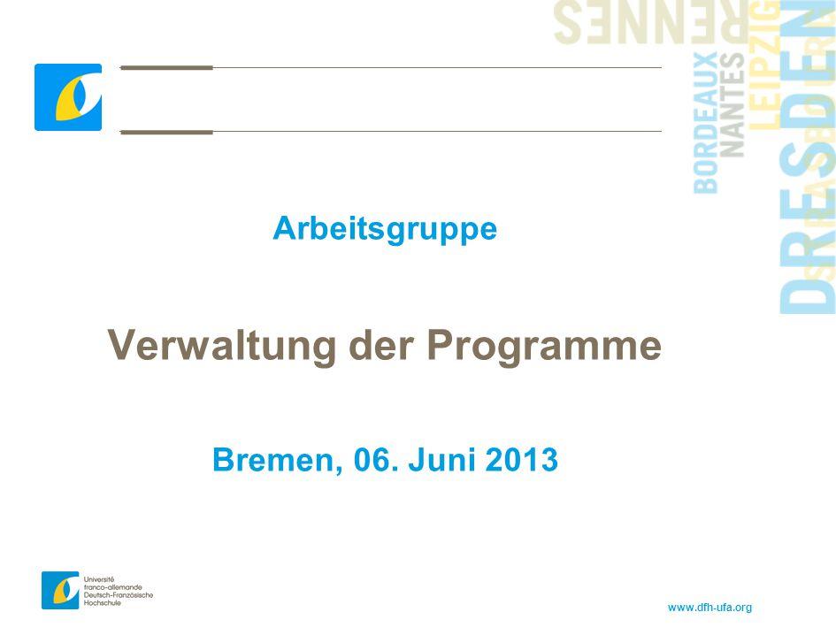 Verwaltung der Programme