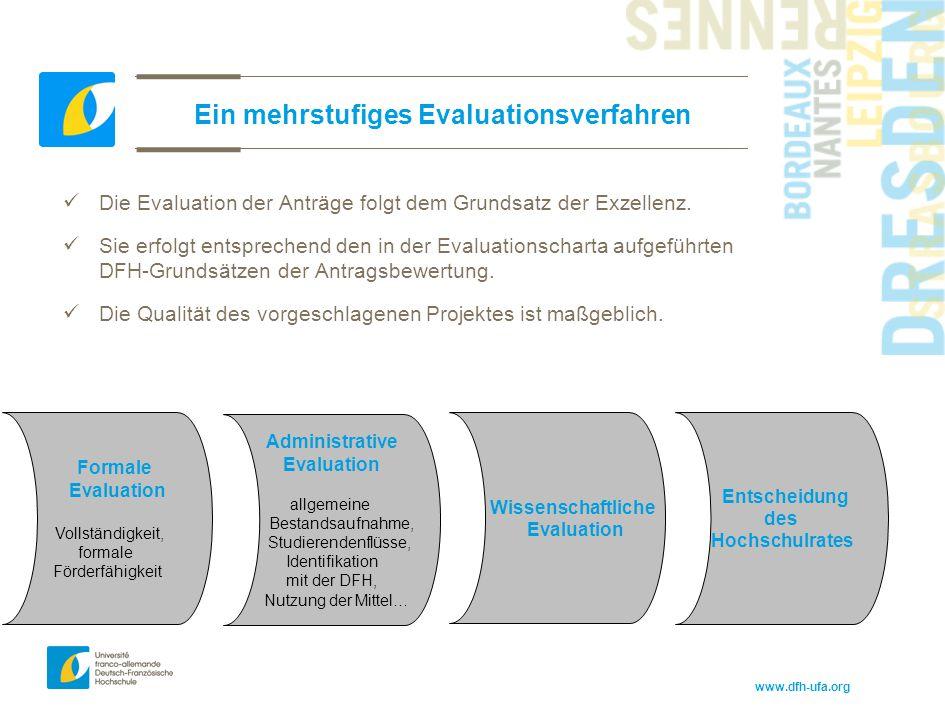 Ein mehrstufiges Evaluationsverfahren