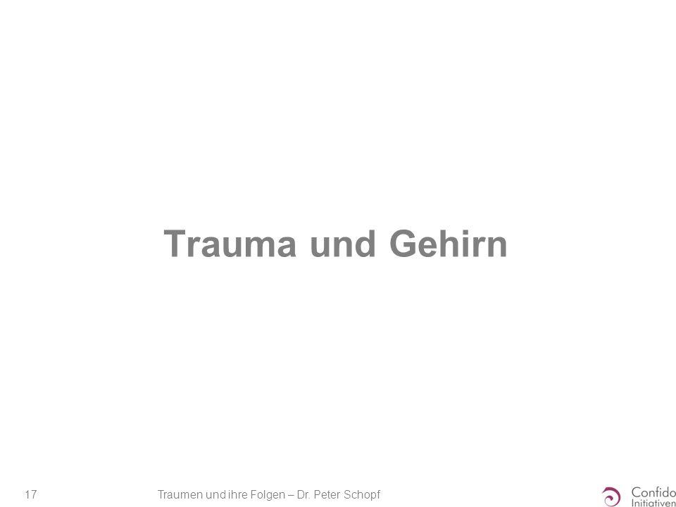 Traumen und ihre Folgen – Dr. Peter Schopf