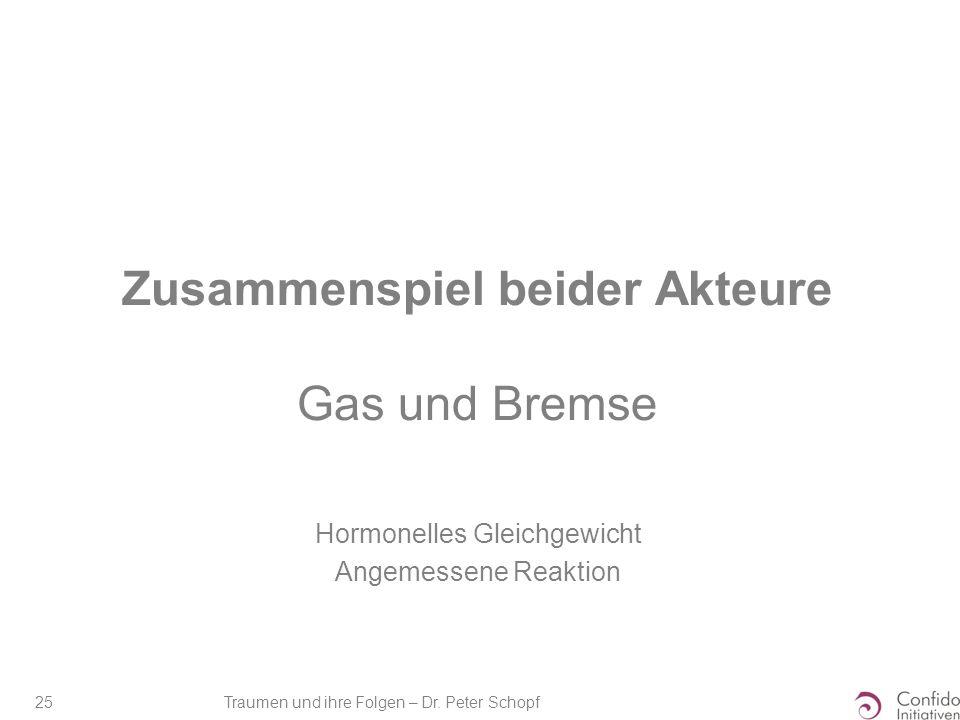 Zusammenspiel beider Akteure Gas und Bremse